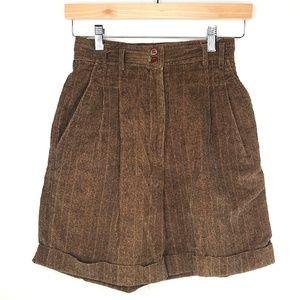VTG Rafaella Brown Super High Waist Dress Shorts